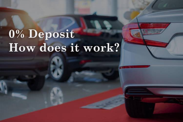0% deposit cars. How does it work?
